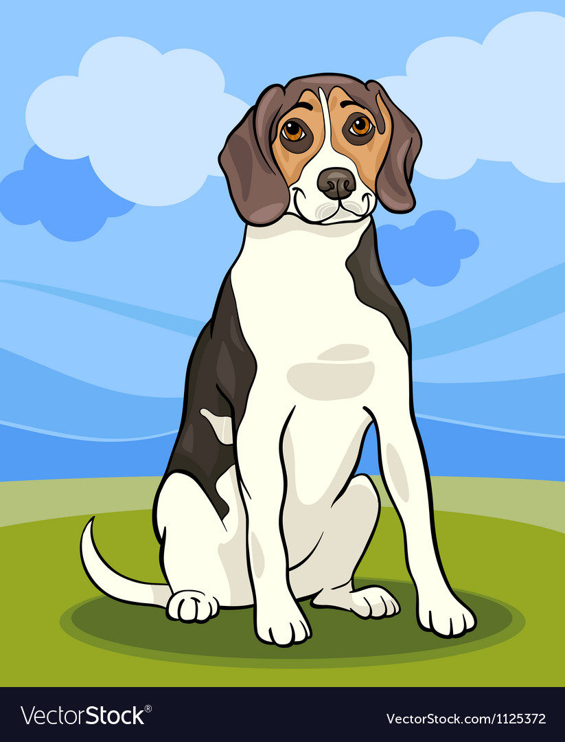 Beagle dog cartoon vector | Price: 1 Credit (USD $1)