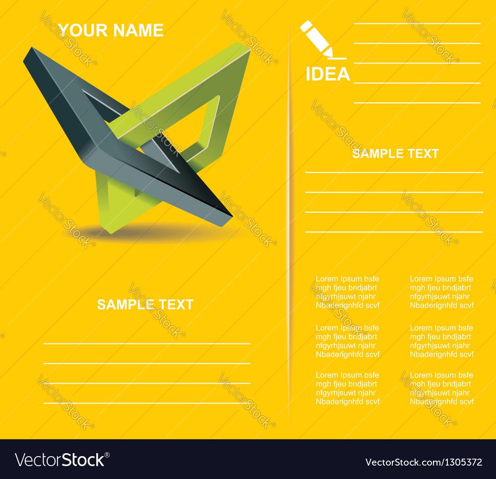 Brochure design with orthogonal rhomb symbols vector | Price: 1 Credit (USD $1)