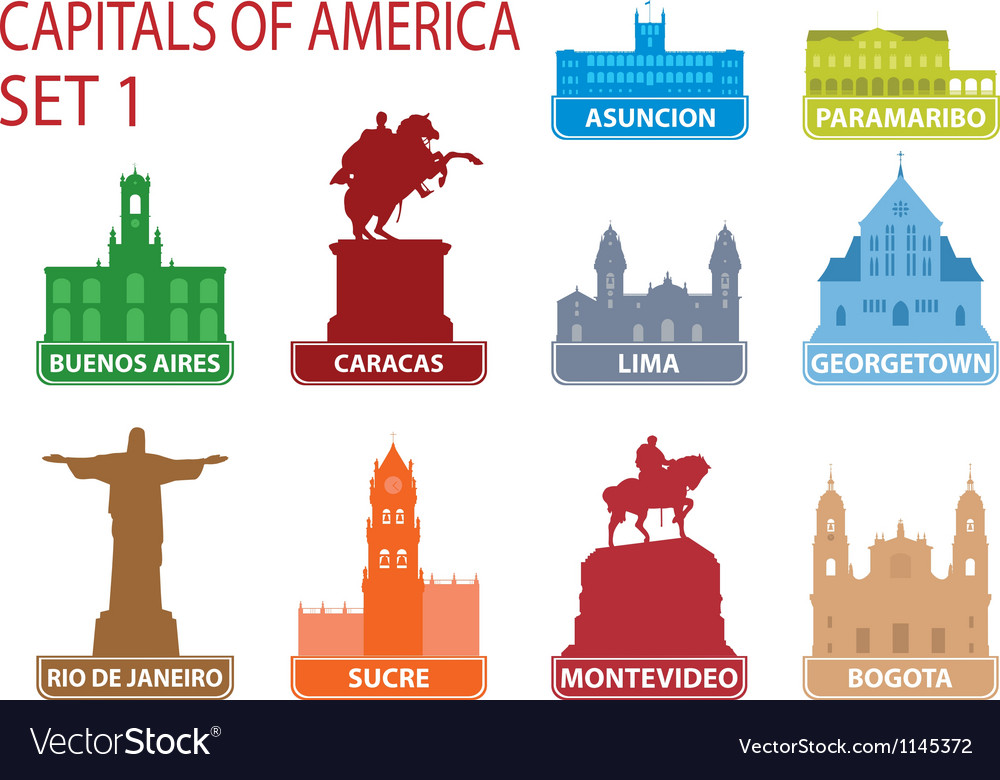 Capitals of america vector | Price: 1 Credit (USD $1)
