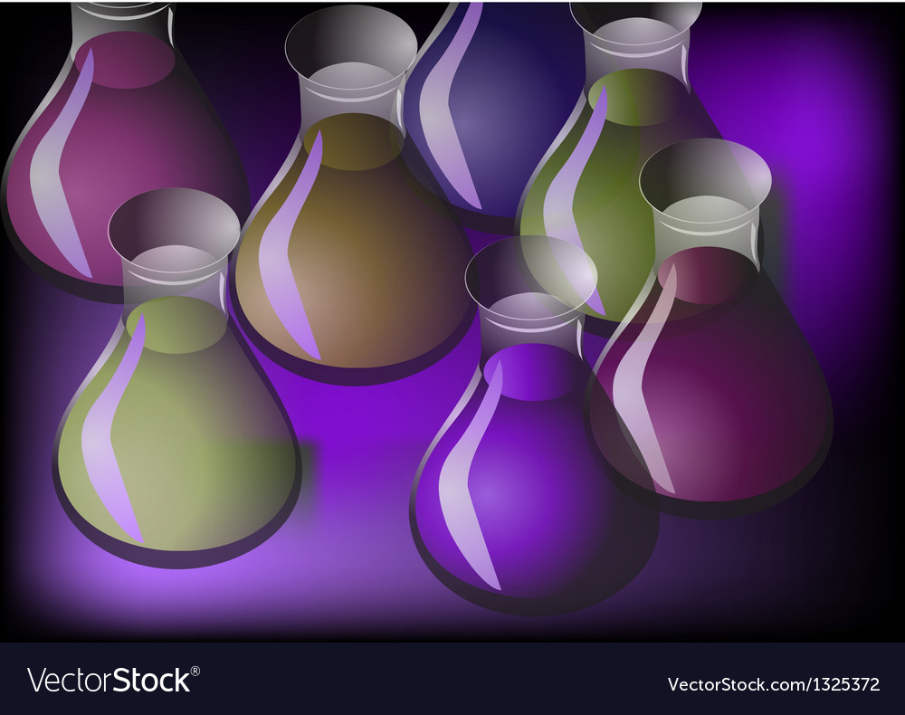 Containers with liquids vector | Price: 1 Credit (USD $1)