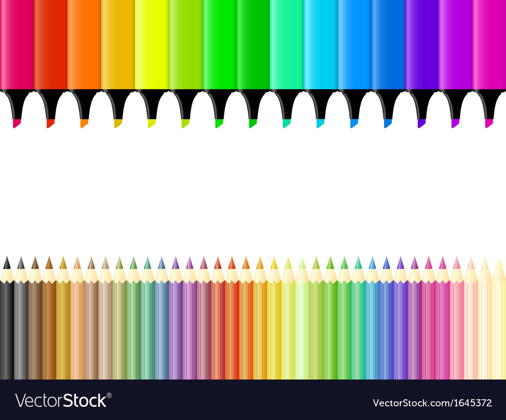 Crayons and markers vector   Price: 1 Credit (USD $1)