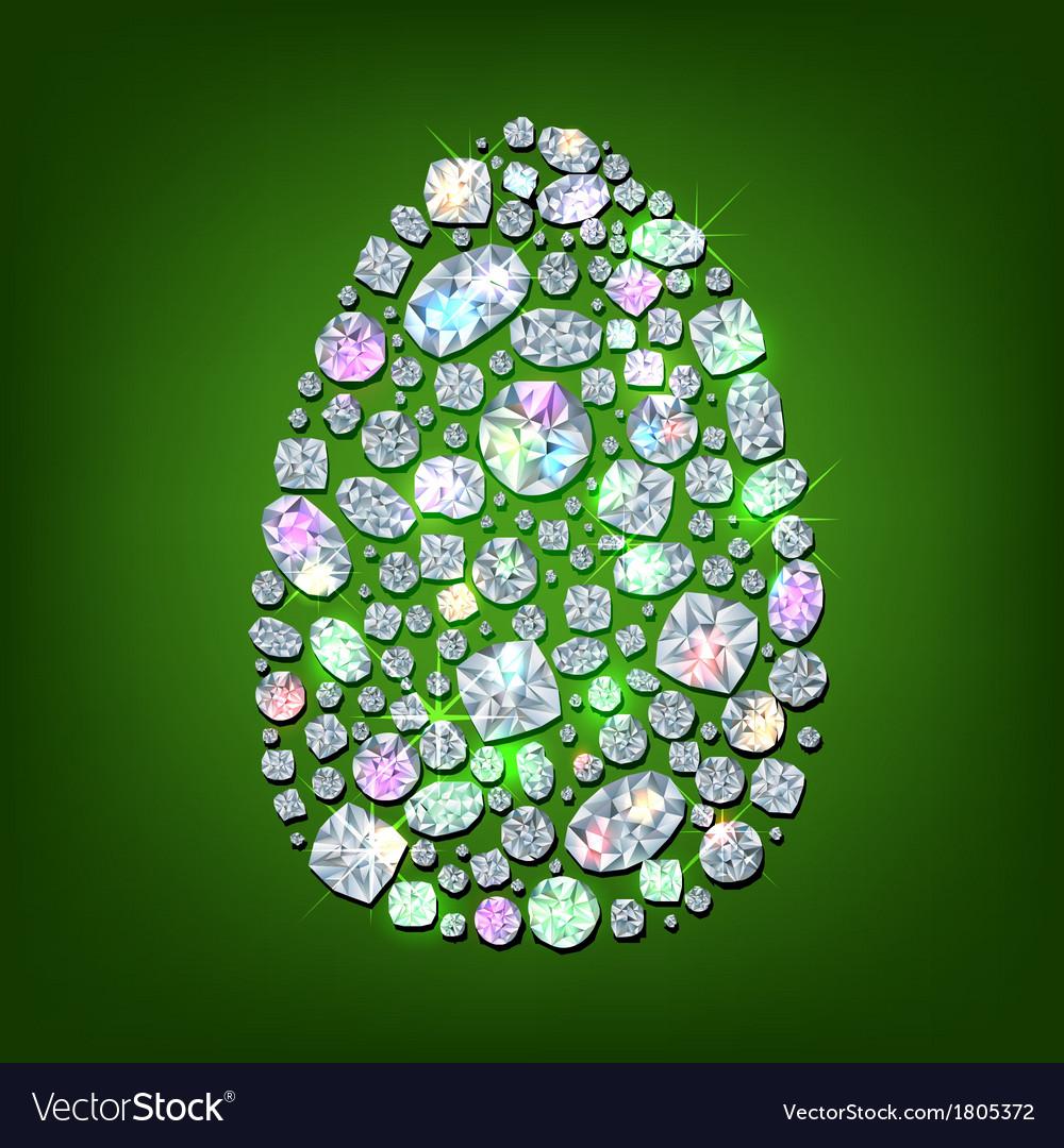 Diamond egg vector | Price: 1 Credit (USD $1)