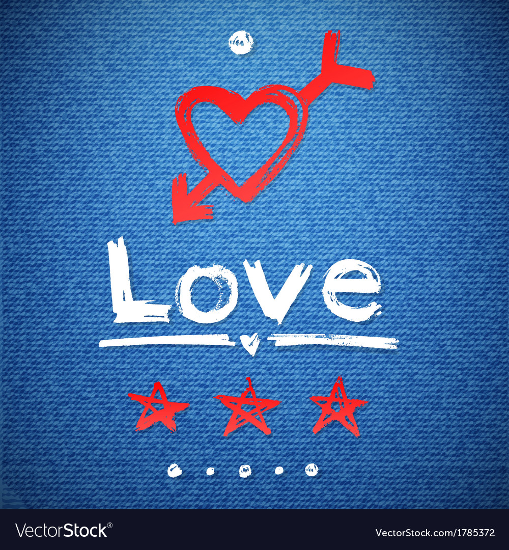 Freehand letters love text doodles vector | Price: 1 Credit (USD $1)