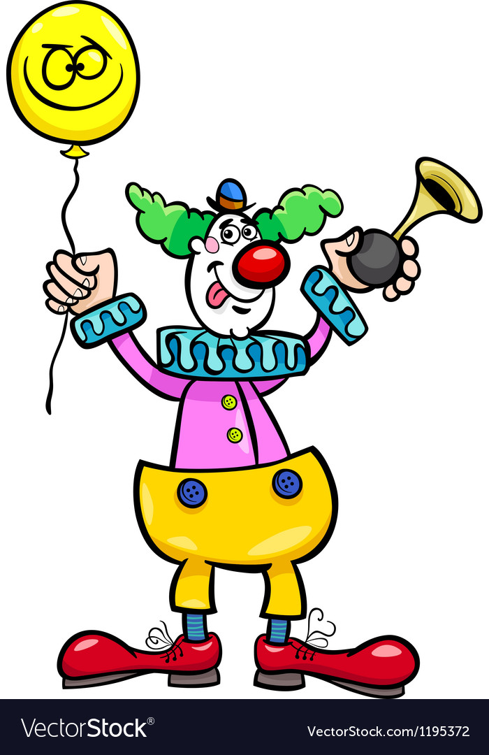 Funny clown cartoon vector | Price: 1 Credit (USD $1)