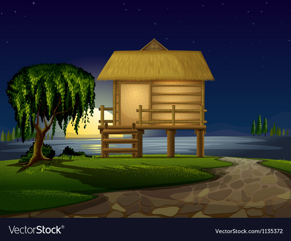 House and stars vector | Price: 1 Credit (USD $1)
