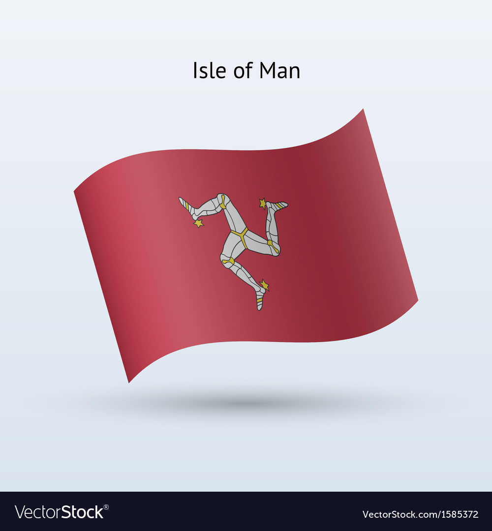Isle of man flag waving form vector | Price: 1 Credit (USD $1)
