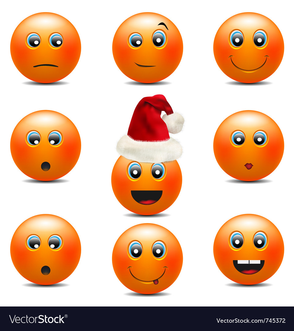 Orange smiley faces vector | Price: 1 Credit (USD $1)