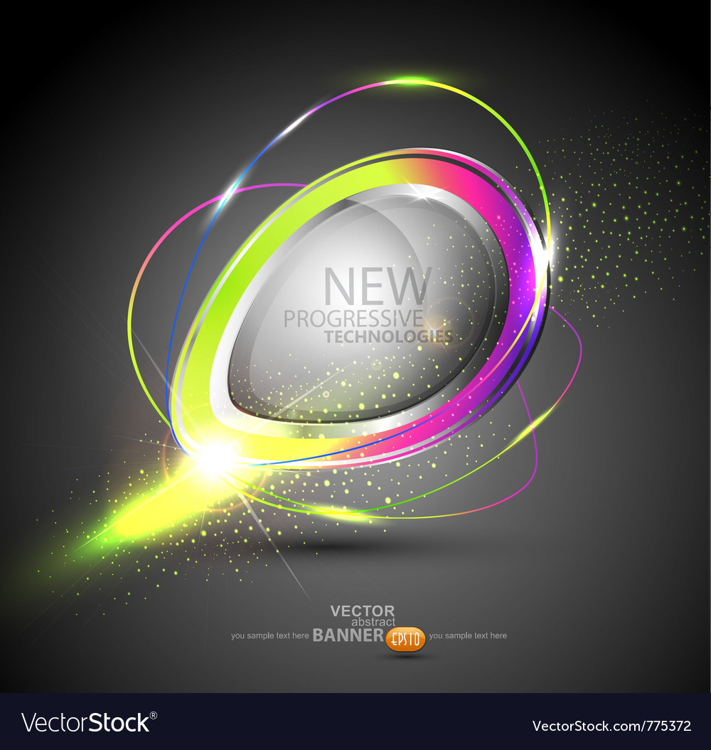 Round color banner vector | Price: 1 Credit (USD $1)