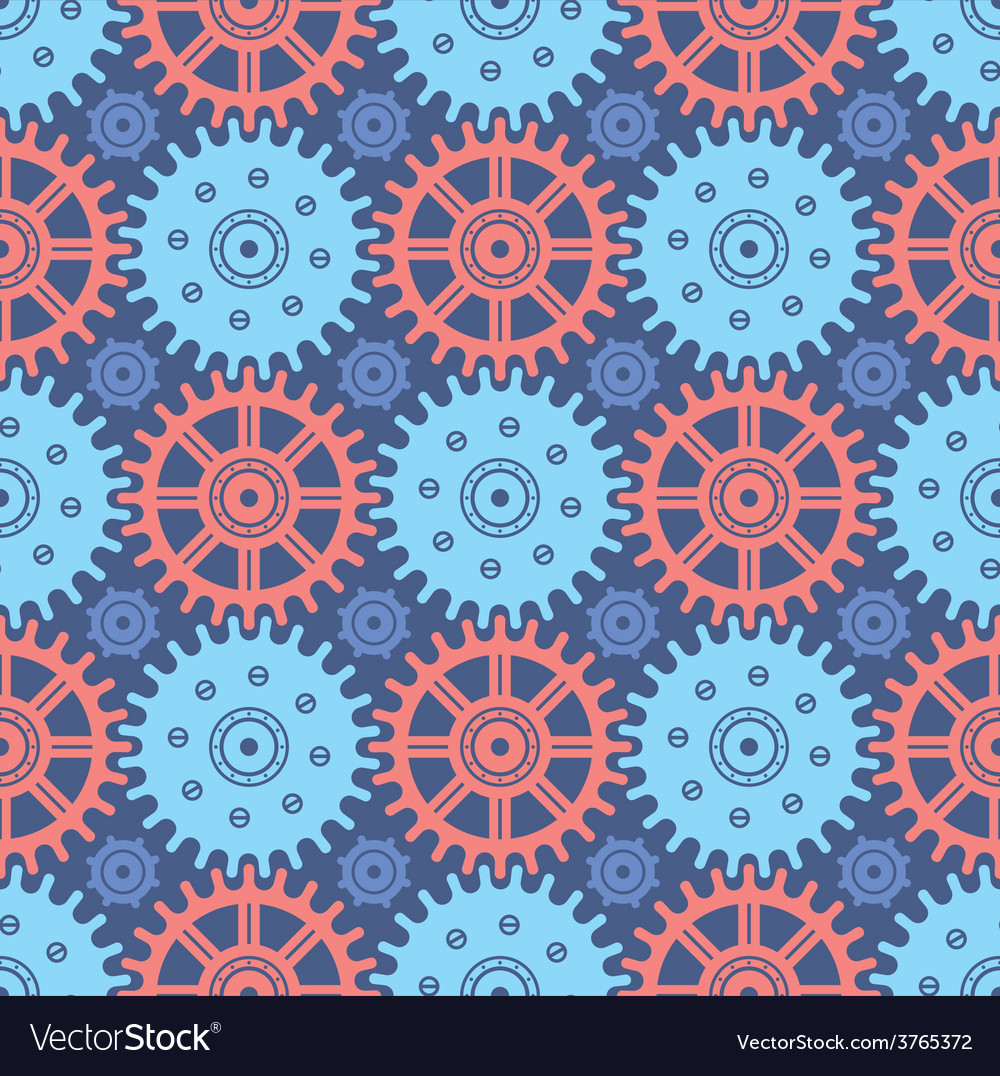 Seamless cogwheel pattern vector | Price: 1 Credit (USD $1)
