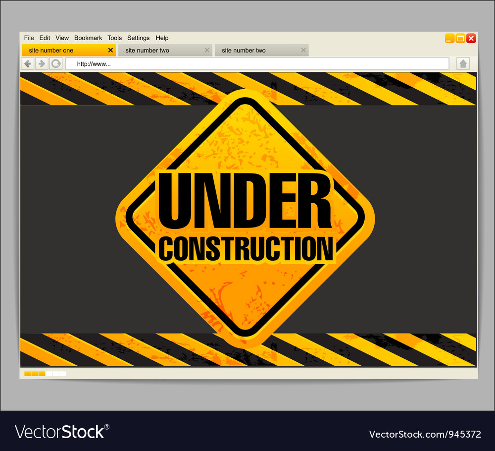 Under construction site template vector   Price: 1 Credit (USD $1)