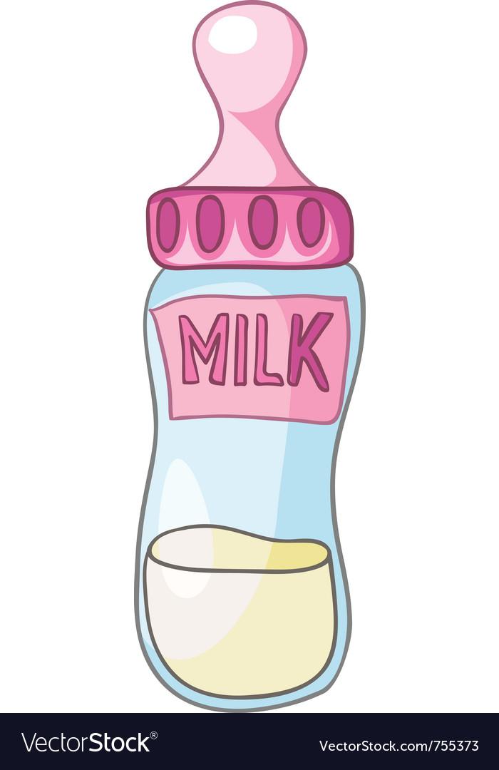 Cartoon home kitchen milk bottle vector | Price: 1 Credit (USD $1)
