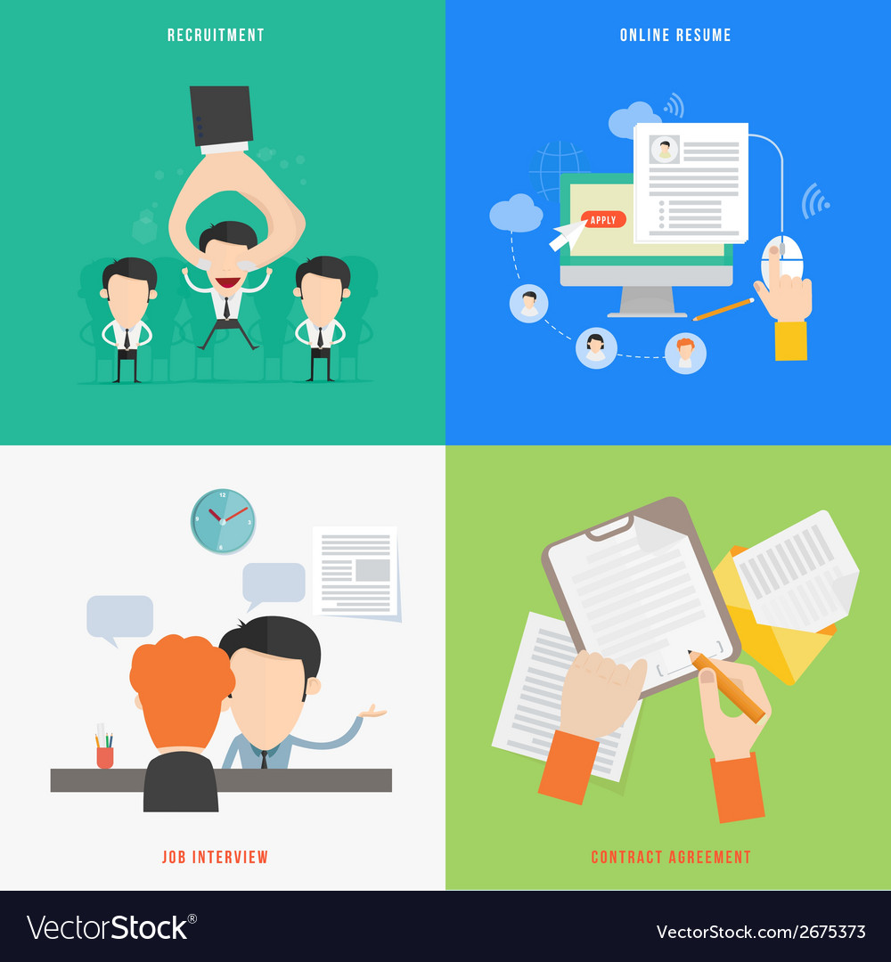 Element of hr recruitment process concept icon in vector