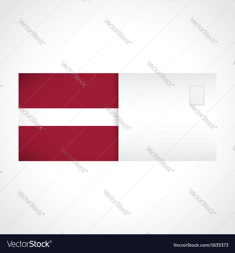 Envelope with latvian flag card vector | Price: 1 Credit (USD $1)