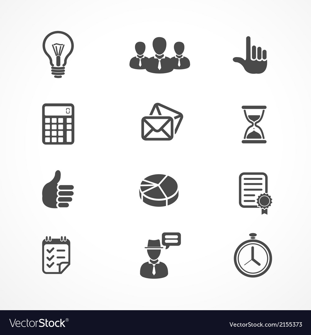 Office and business icons set vector | Price: 1 Credit (USD $1)