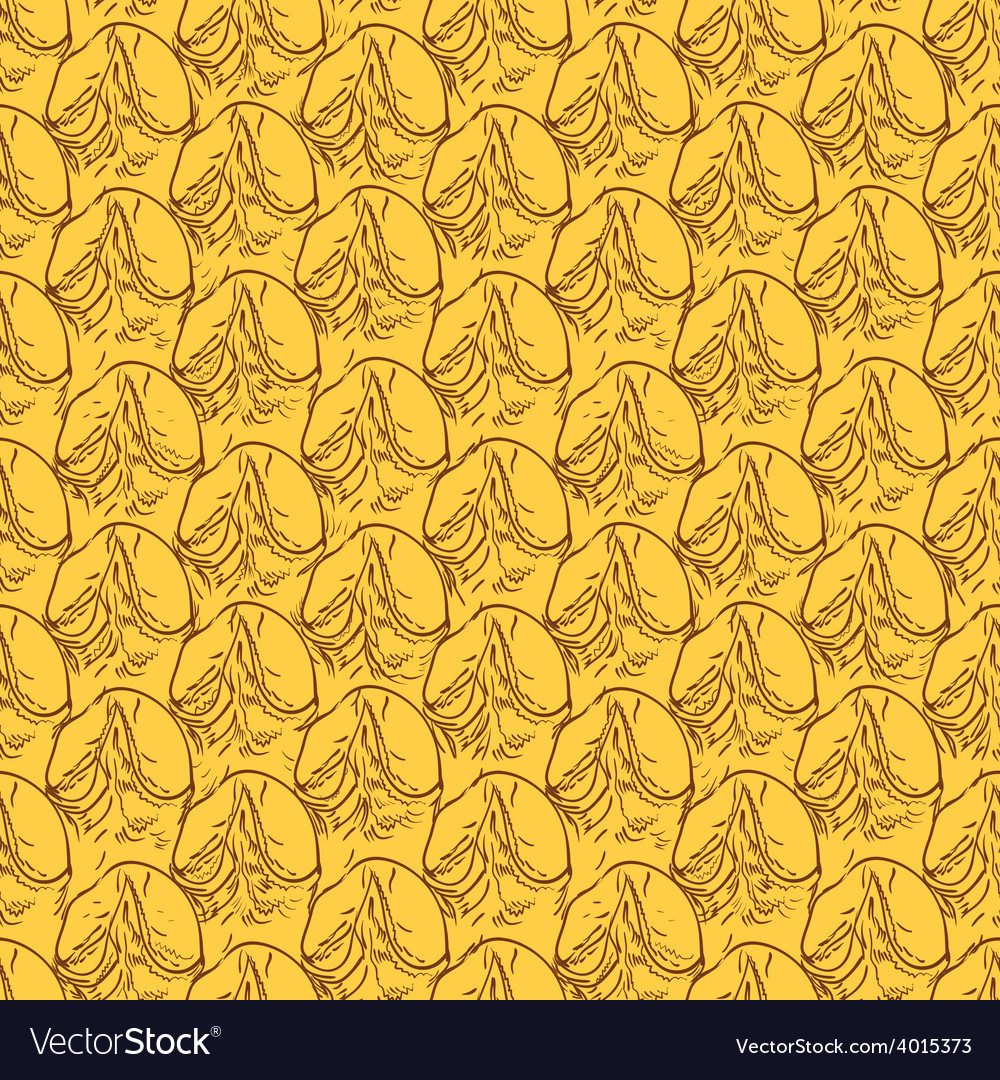 Pineapple peel seamless background sketch vector | Price: 1 Credit (USD $1)
