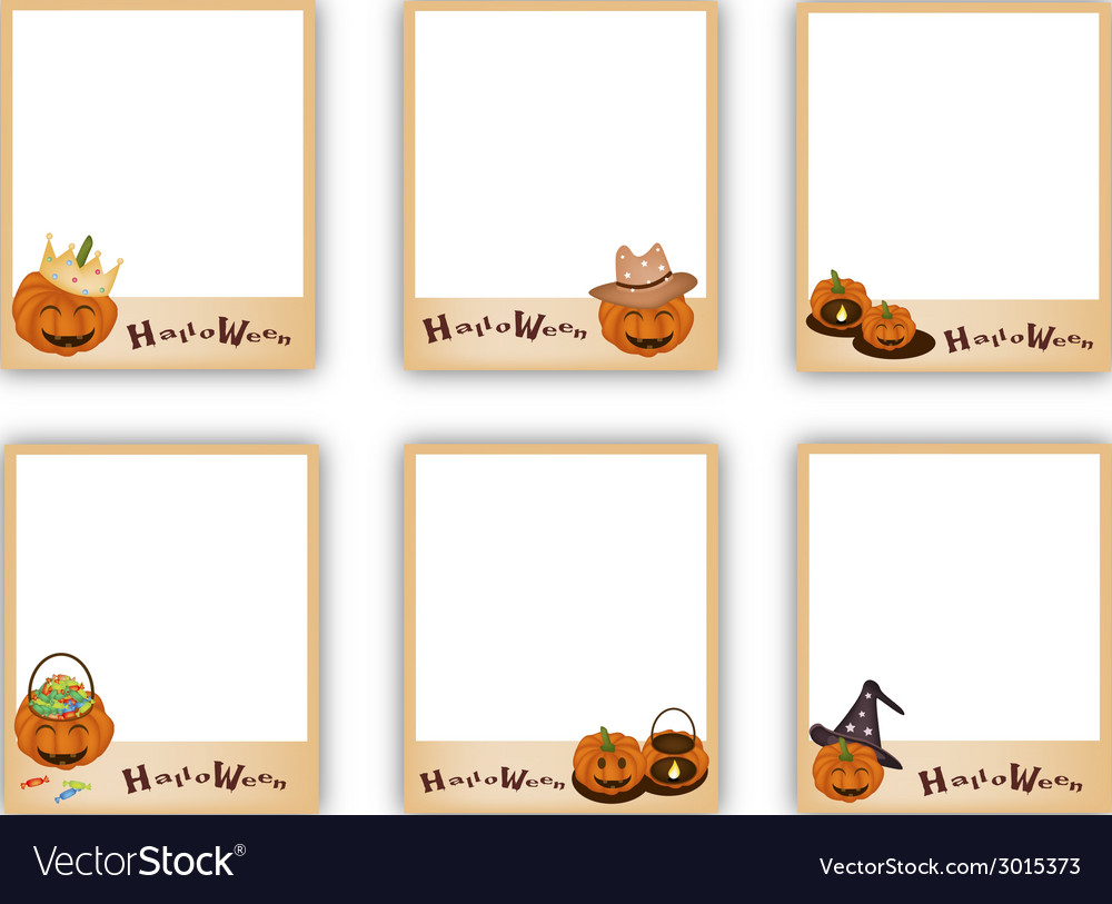 Set of photos with halloween evil and item vector | Price: 1 Credit (USD $1)