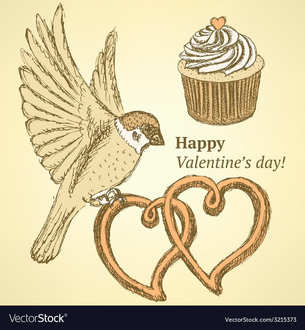 Sketch cute valentine set vector   Price: 1 Credit (USD $1)