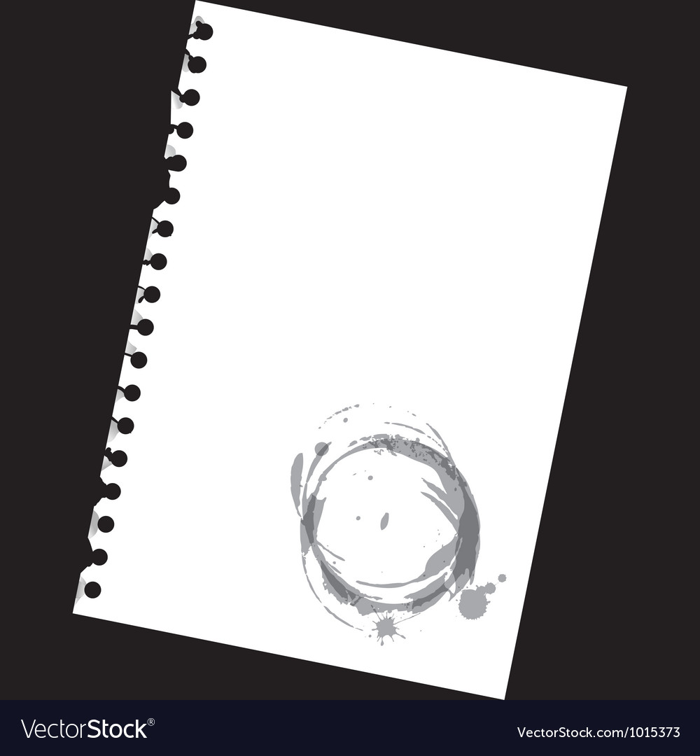 Stained notepad paper vector | Price: 1 Credit (USD $1)