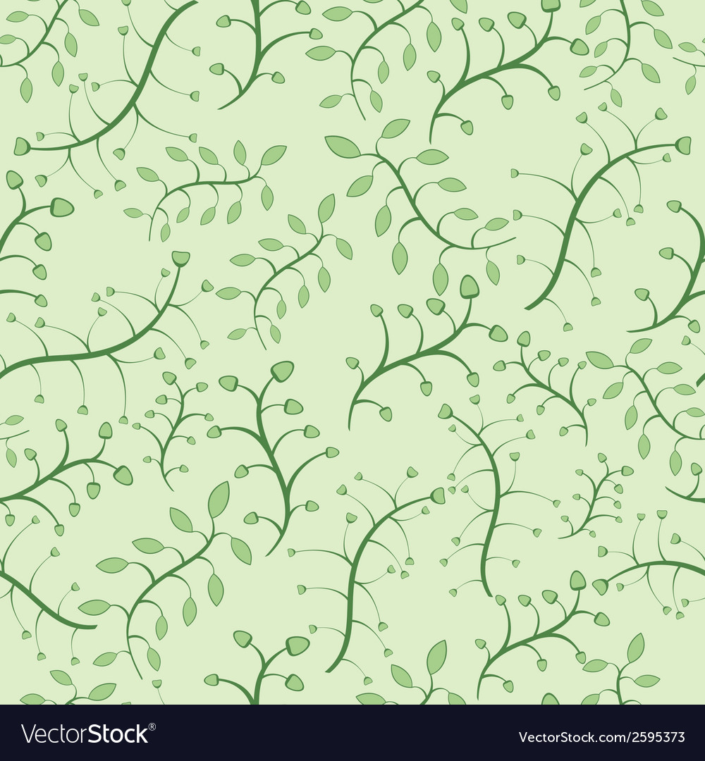 Stylish floral seamless pattern in green colors vector | Price: 1 Credit (USD $1)