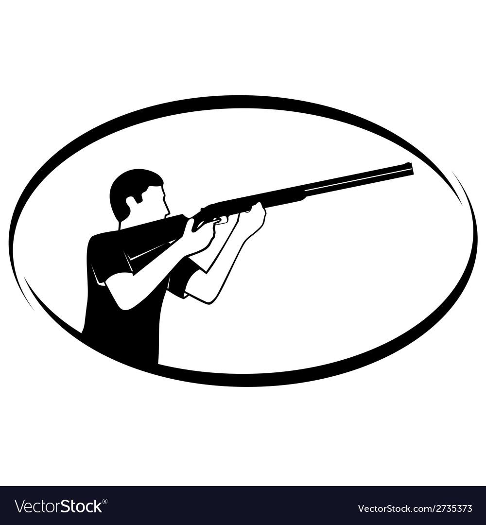 Trap shooting vector | Price: 1 Credit (USD $1)