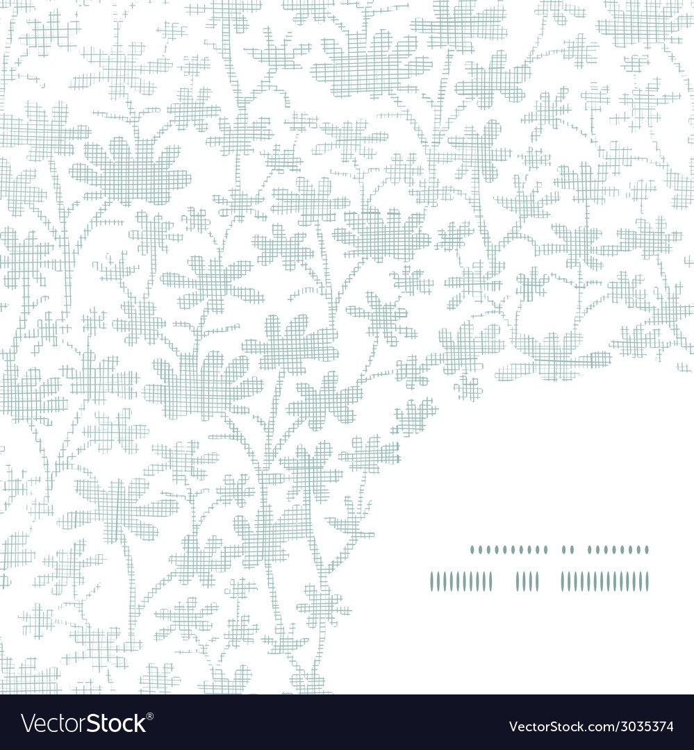 Abstract gray bush leaves textile frame corner vector | Price: 1 Credit (USD $1)