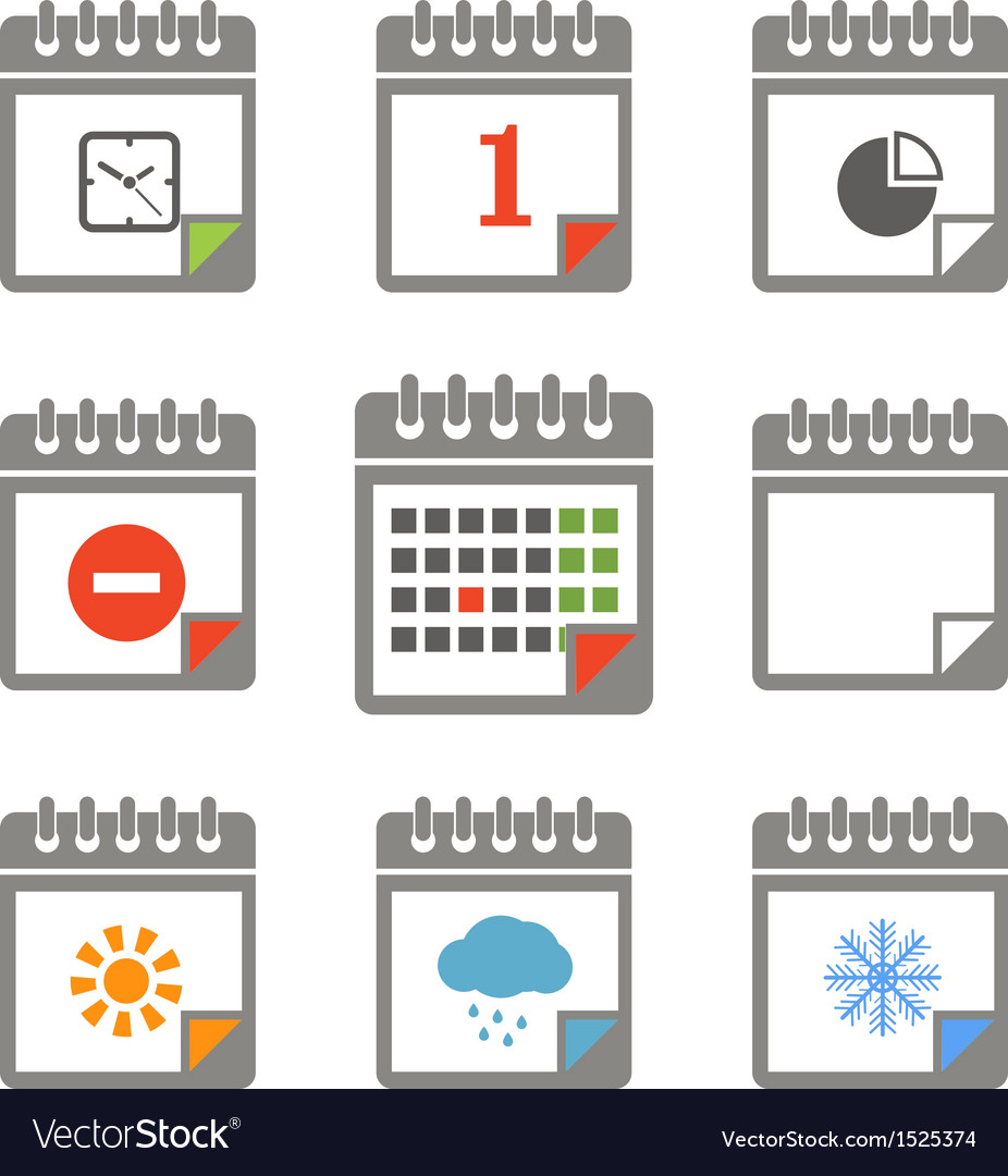 Calendar icons collection vector | Price: 1 Credit (USD $1)