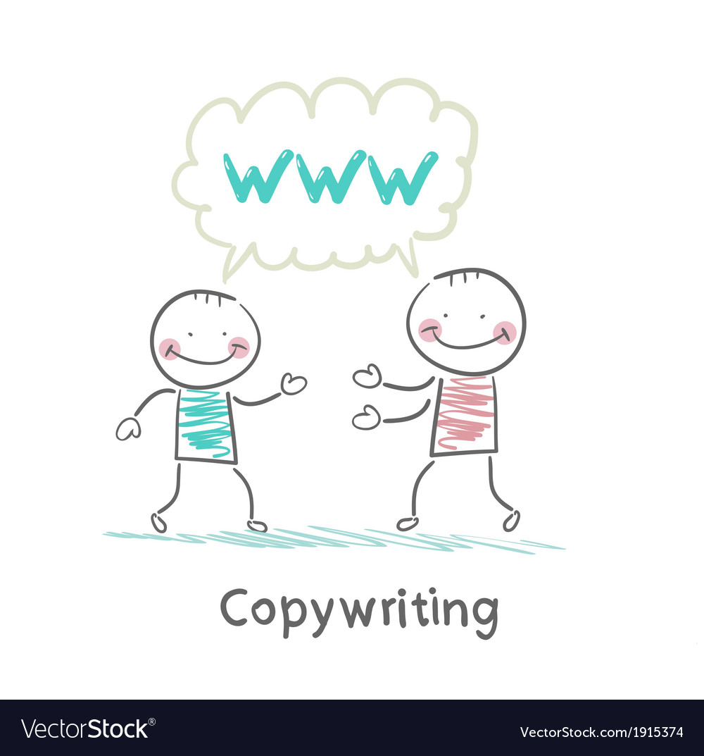 Copywriter says with a customer vector | Price: 1 Credit (USD $1)