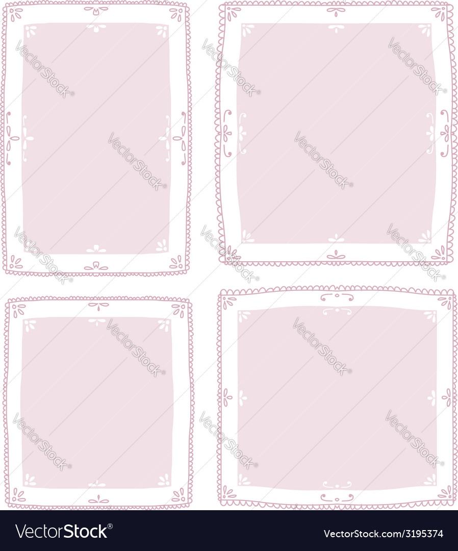 Floral vignette set for your design vector | Price: 1 Credit (USD $1)