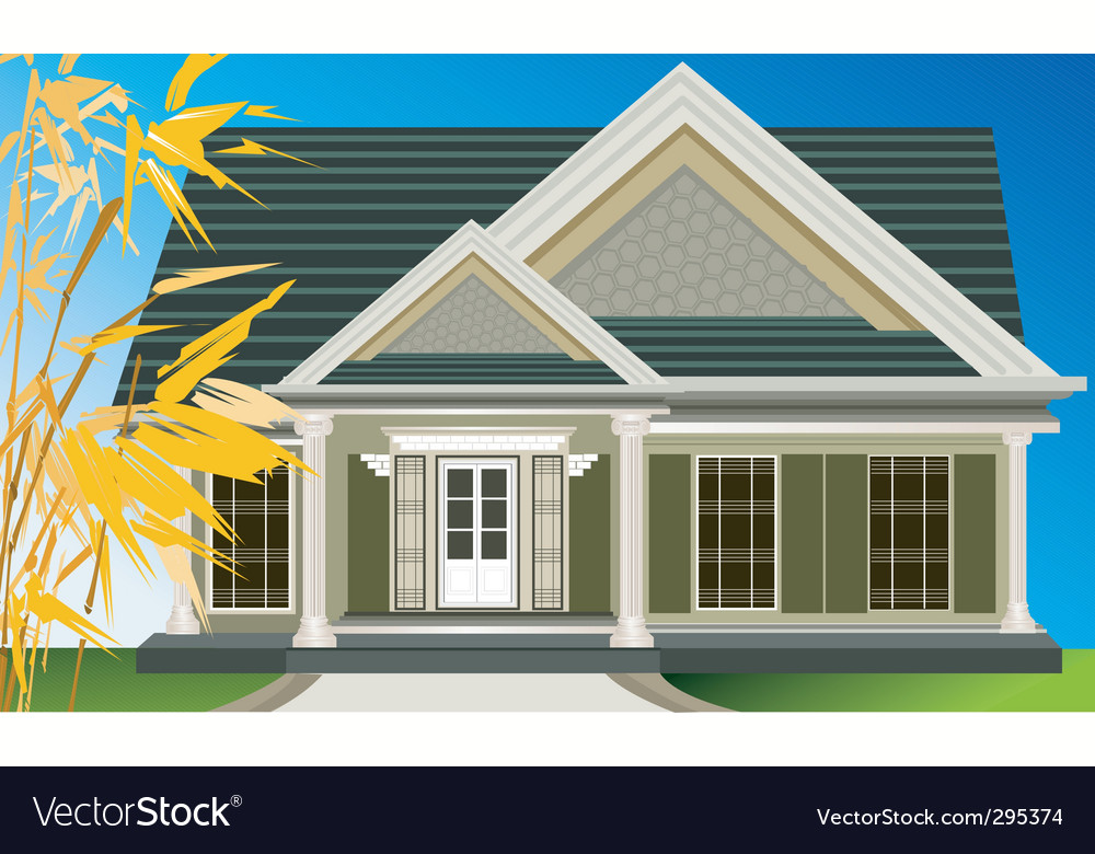 House or villa vector | Price: 3 Credit (USD $3)