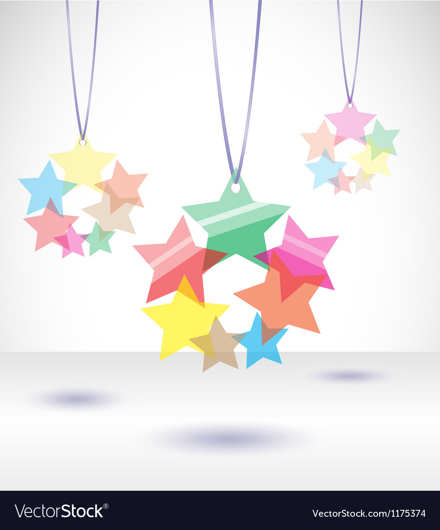 Isolated transparent colorful stars vector | Price: 1 Credit (USD $1)