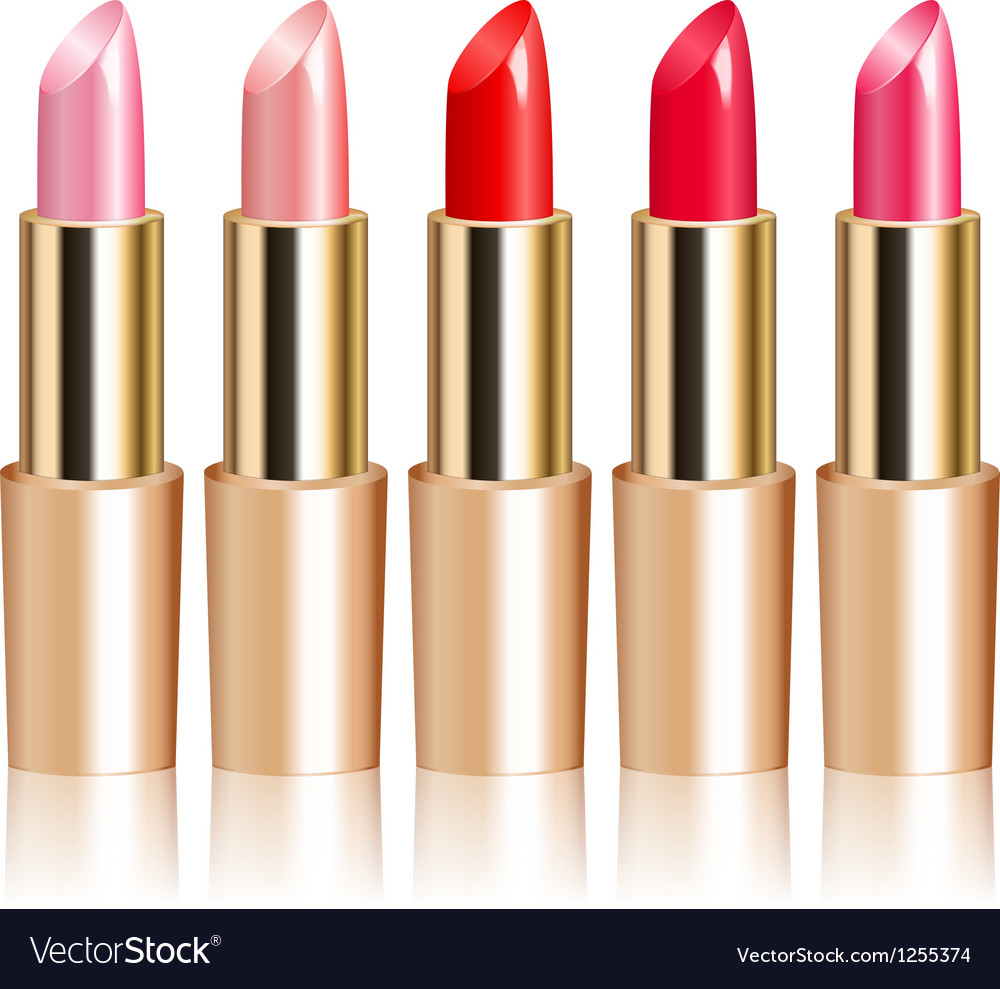 Lipsticks vector | Price: 1 Credit (USD $1)