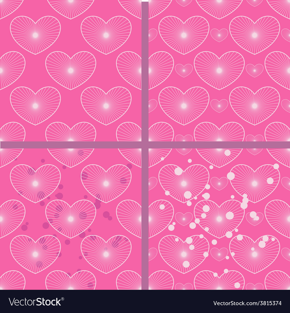 Set of patterns with hearts vector | Price: 1 Credit (USD $1)