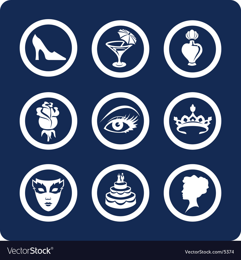 Woman and beauty icons vector | Price: 1 Credit (USD $1)