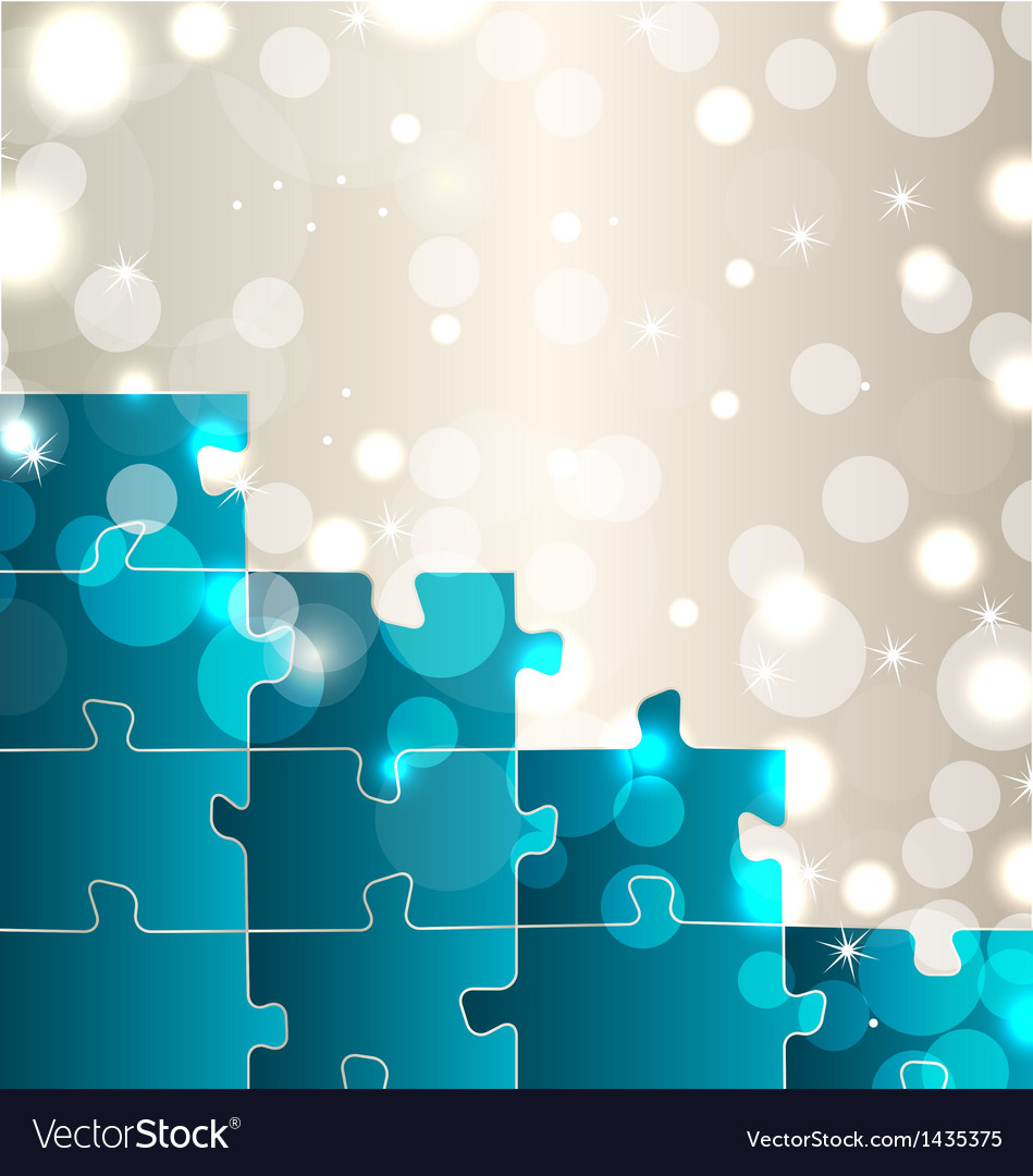 Abstract background with set puzzle pieces vector | Price: 1 Credit (USD $1)