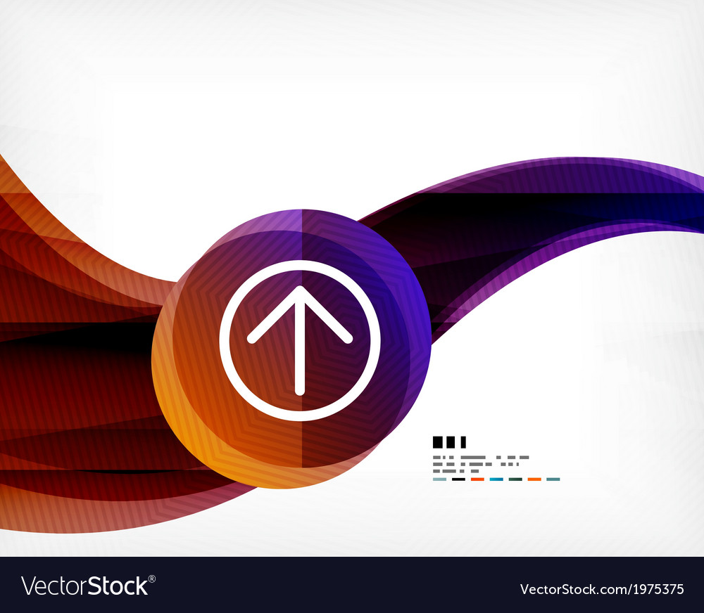 Abstract wave poster vector | Price: 1 Credit (USD $1)