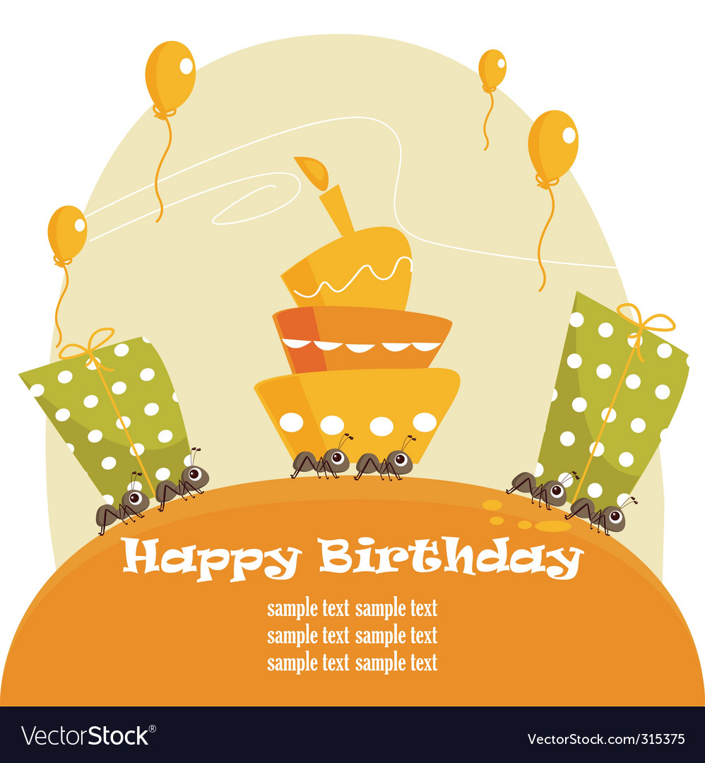 Birthday card vector | Price: 1 Credit (USD $1)