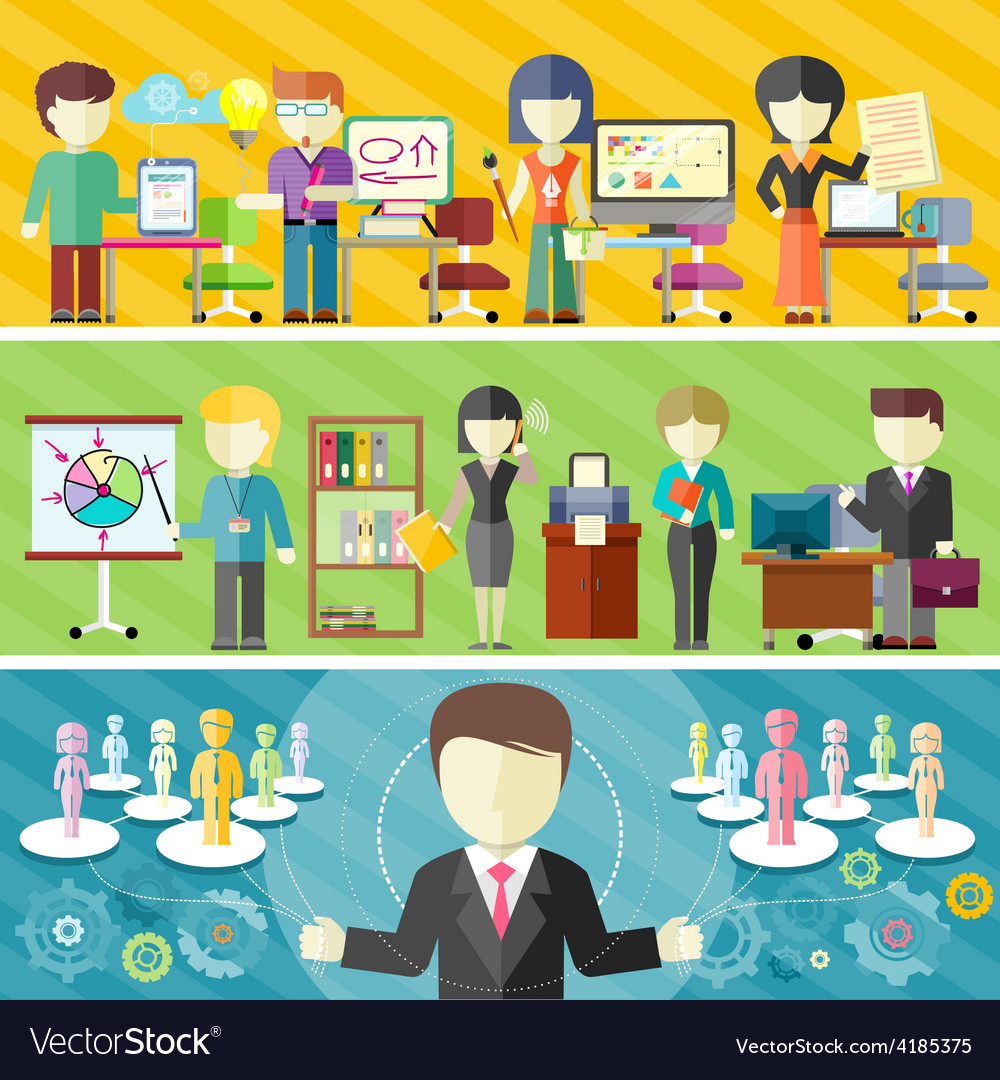 Dynamic business team vector | Price: 1 Credit (USD $1)