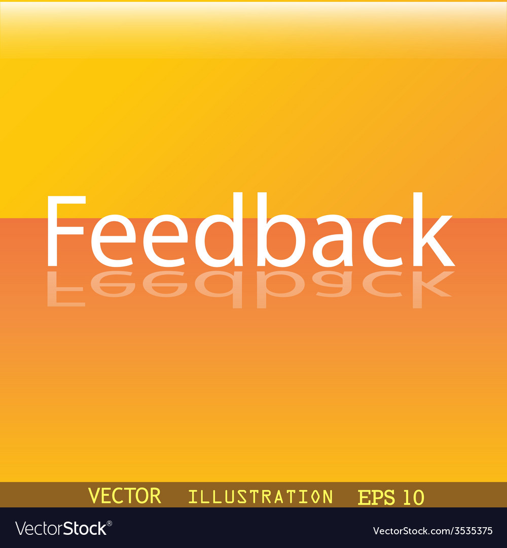 Feedback icon symbol flat modern web design with vector | Price: 1 Credit (USD $1)