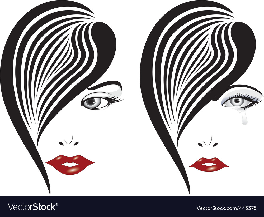 Glamour girl portrait vector | Price: 1 Credit (USD $1)