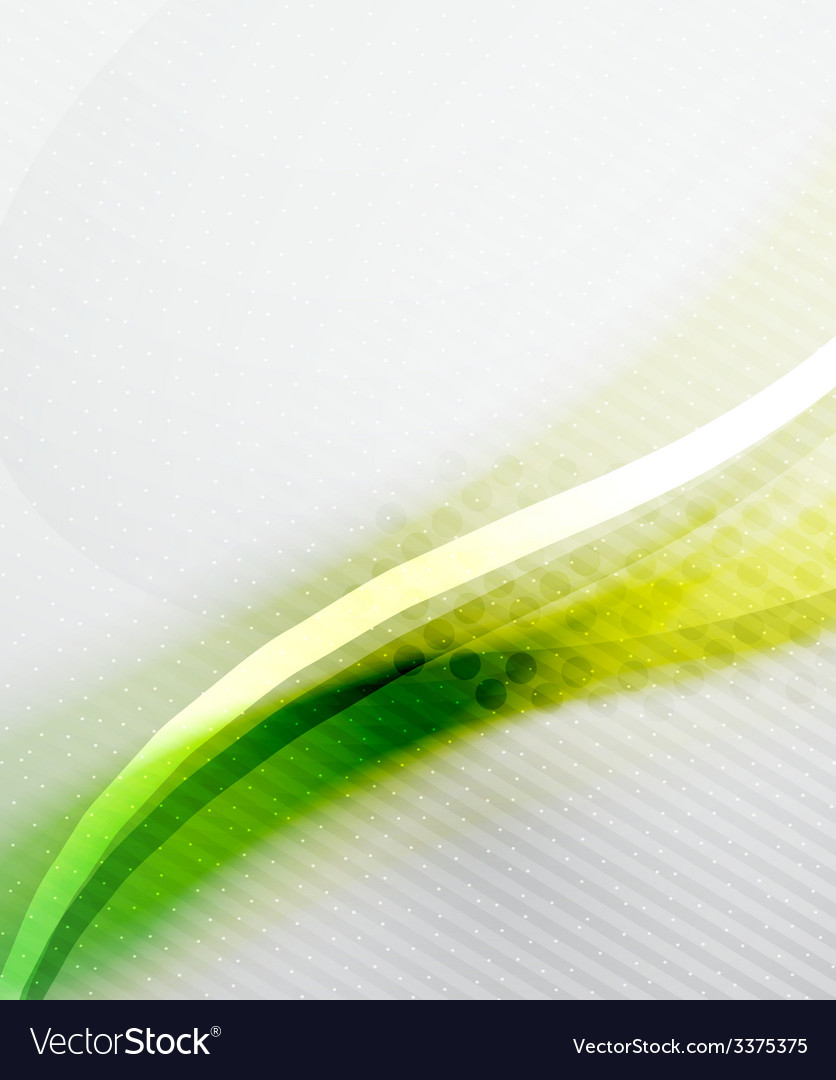 Green and yellow wave layout vector | Price: 1 Credit (USD $1)