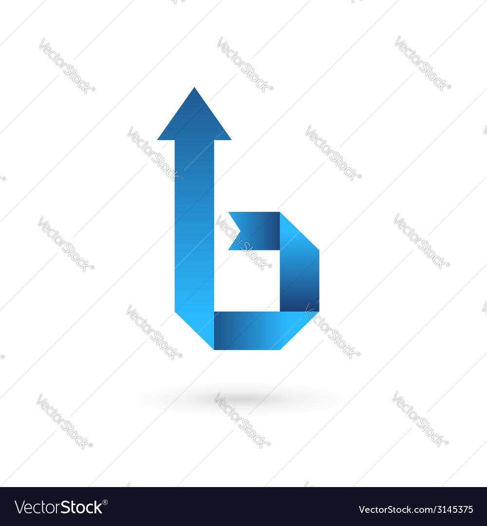 Letter b ribbon arrow logo icon design template vector | Price: 1 Credit (USD $1)
