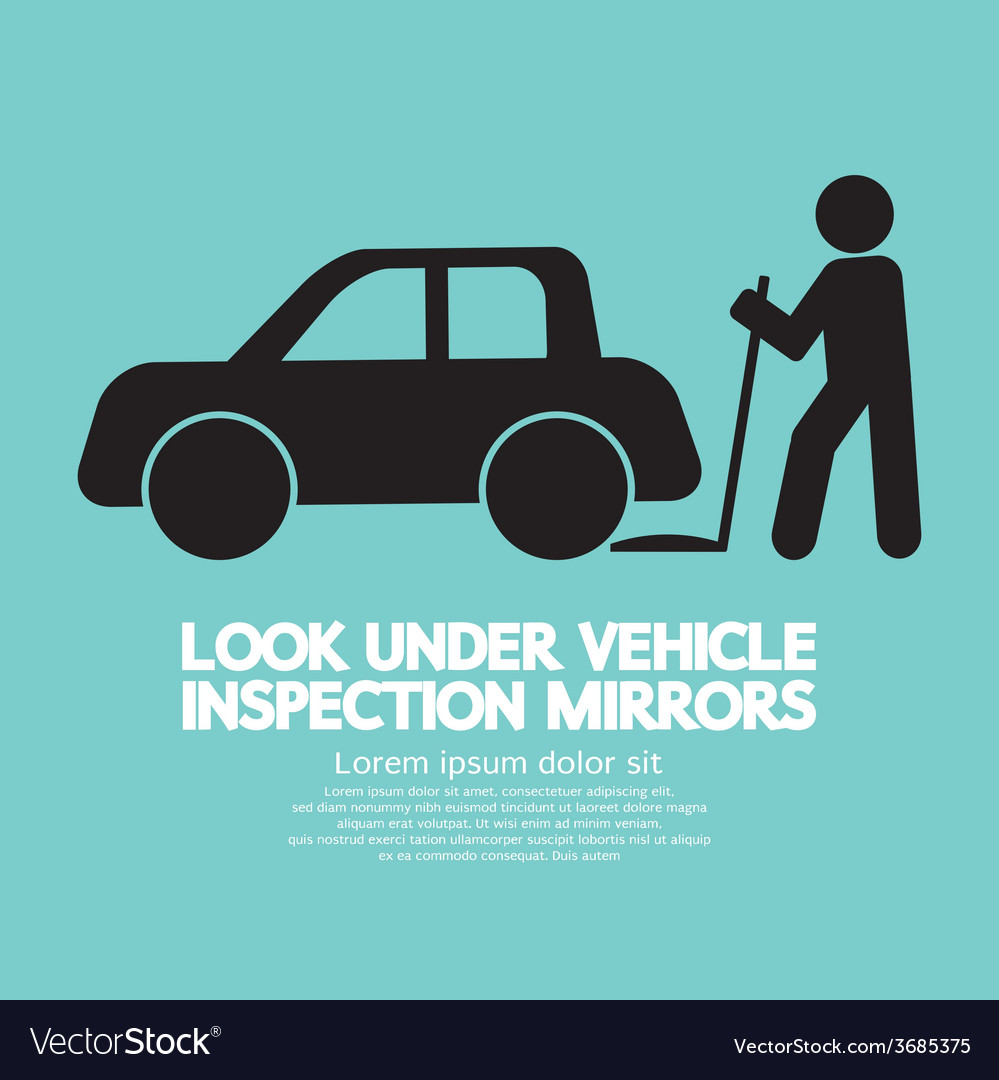 Lookunder vehicle inspection mirrors vector   Price: 1 Credit (USD $1)