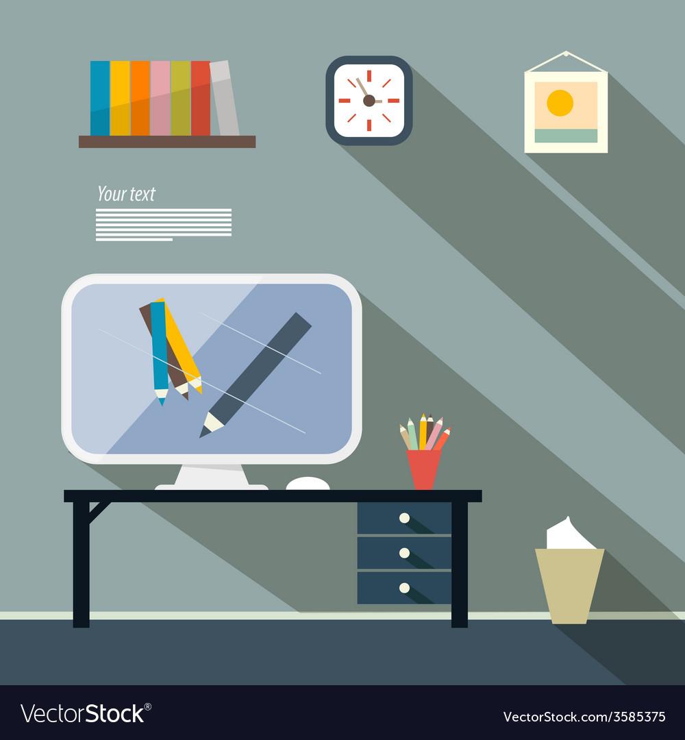 Office flat design vector   Price: 1 Credit (USD $1)