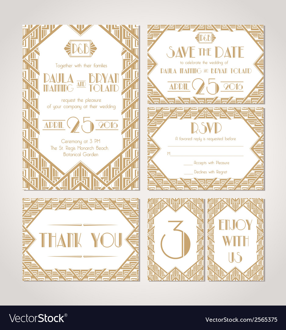 Save the date set of wedding invitation cards vector | Price: 1 Credit (USD $1)