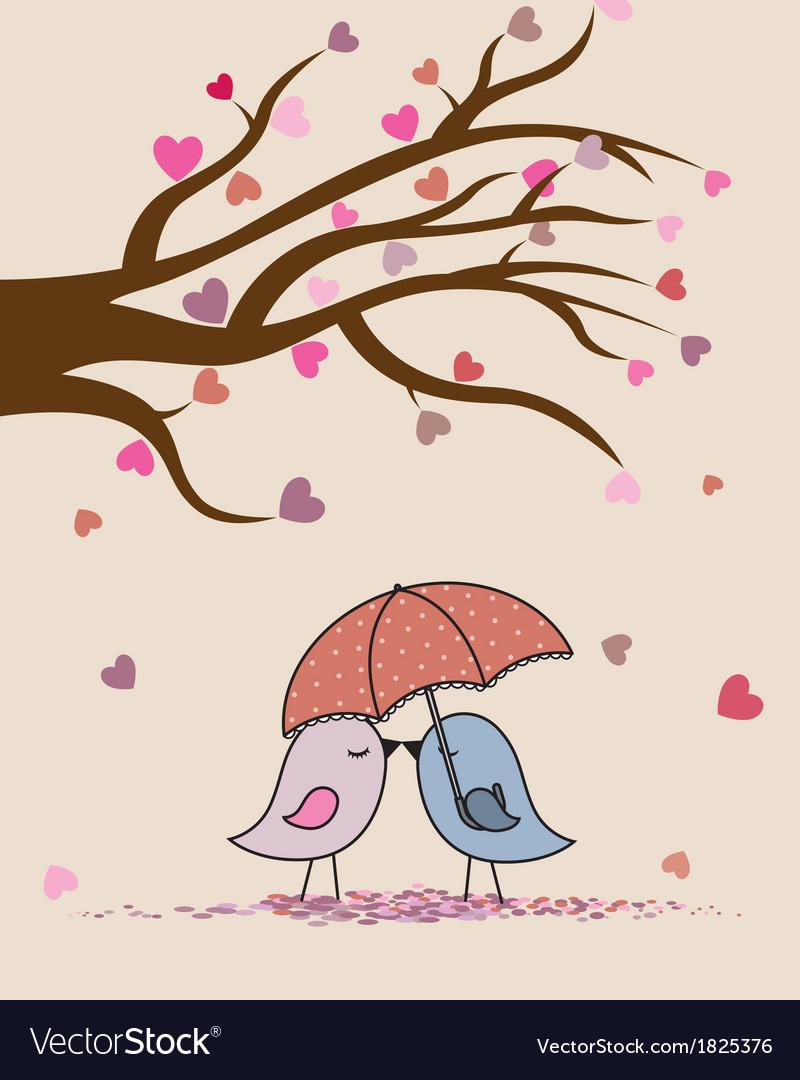 Birds in love vector | Price: 1 Credit (USD $1)