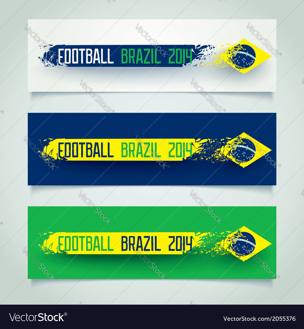 Brazilian grunge banners vector | Price: 1 Credit (USD $1)