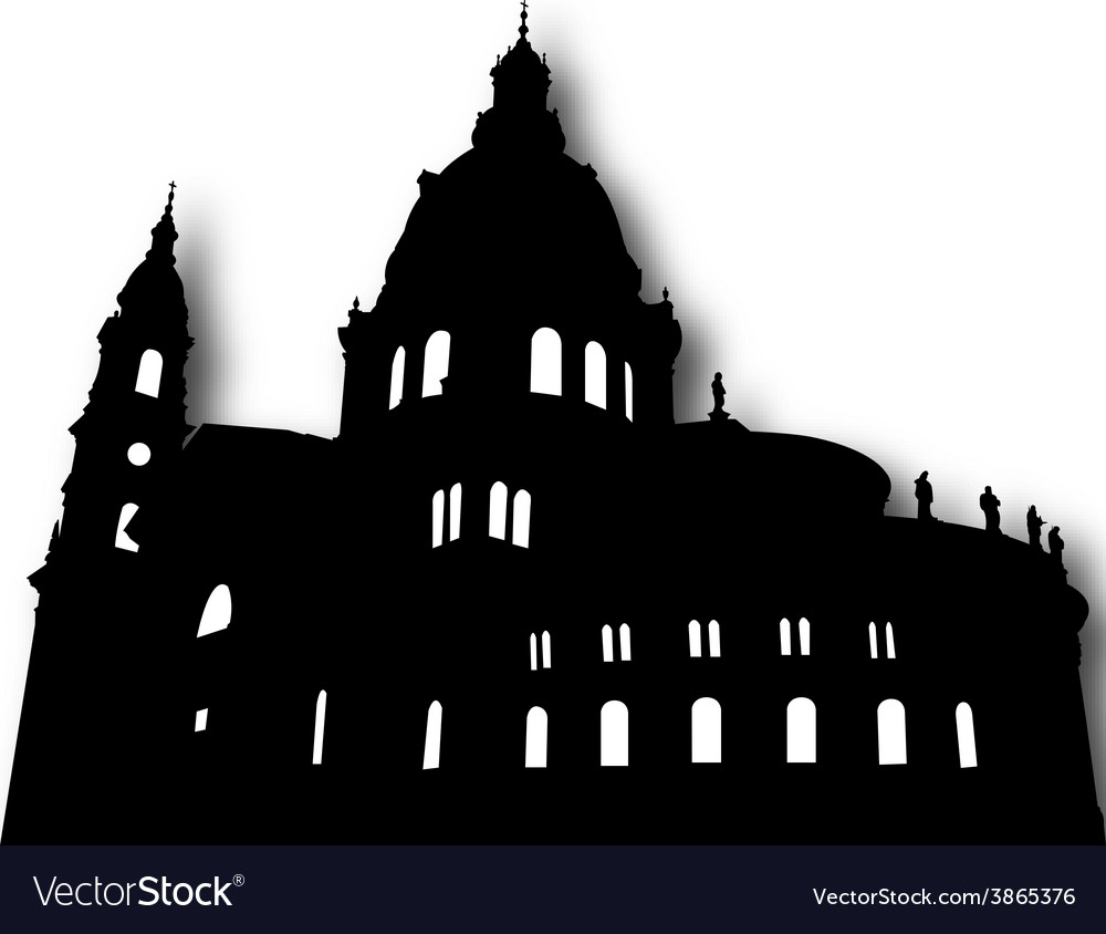 Church silhouette vector | Price: 1 Credit (USD $1)