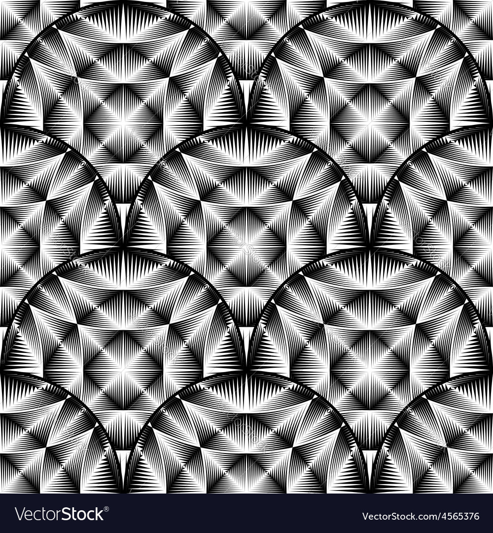 Design seamless monochrome ellipse pattern vector | Price: 1 Credit (USD $1)