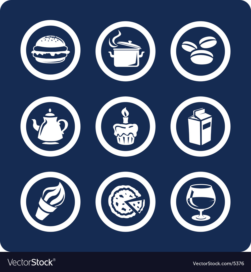 Food and kitchen icons vector | Price: 1 Credit (USD $1)
