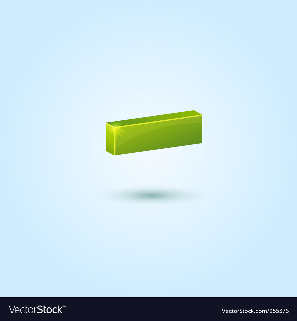 Green minus symbol isolated on blue background vector | Price: 1 Credit (USD $1)